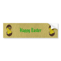Leather-Look Easter Chicken Bumper Sticker