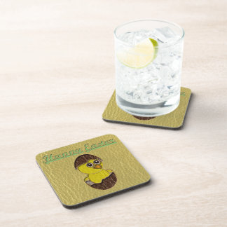 Leather-Look Easter Chicken Coaster