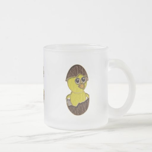 Leather-Look Easter Chicken Coffee Mugs
