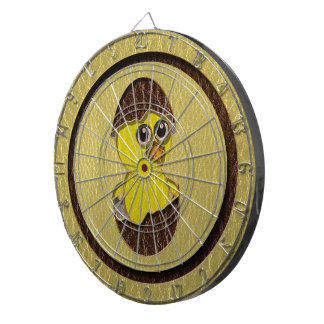 Leather-Look Easter Chicken Dartboard With Darts