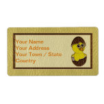 Leather-Look Easter Chicken Personalized Shipping Labels