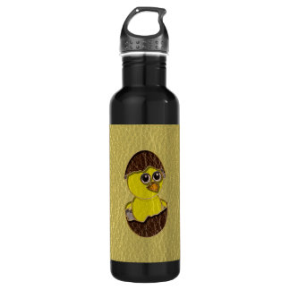 Leather-Look Easter Chicken Water Bottle