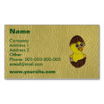Leather-Look Easter Chicken Magnetic Business Cards (Pack Of 25)
