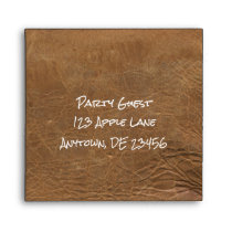 Leather Look Envelope