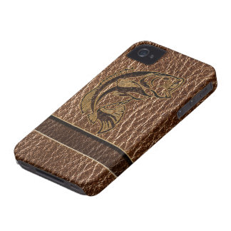 Leather-Look Fish Case-Mate iPhone 4 Case