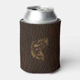 Leather-Look Fish Dark Can Cooler