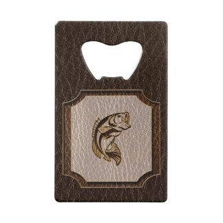 Leather-Look Fish Dark Credit Card Bottle Opener