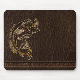 Leather-Look Fish Dark Mouse Pad