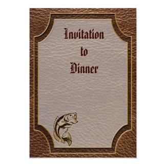 "Leather-Look Fish 5"" X 7"" Invitation Card"