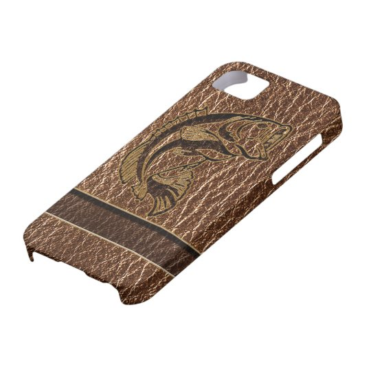 Leather-Look Fish iPhone SE/5/5s Case