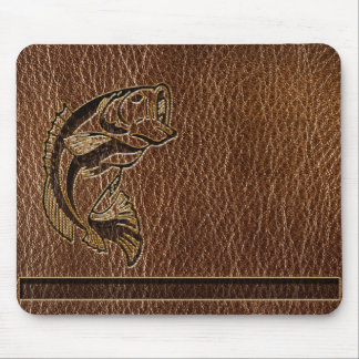 Leather-Look Fish Mouse Pad