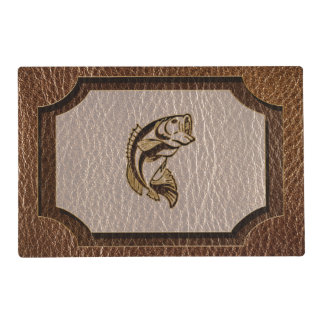 Leather-Look Fish Placemat