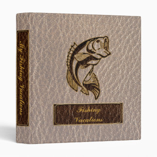 Leather-Look Fish Soft 3 Ring Binder