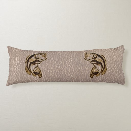 Leather Look Fish Soft Body Pillow Zazzle