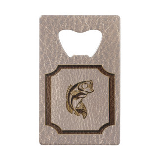 Leather-Look Fish Soft Credit Card Bottle Opener