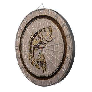 Leather-Look Fish Soft Dartboard With Darts