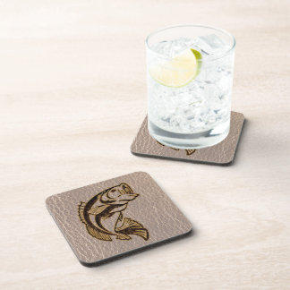 Leather-Look Fish Soft Drink Coaster