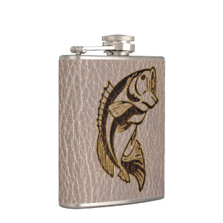 Leather-Look Fish Soft Flasks