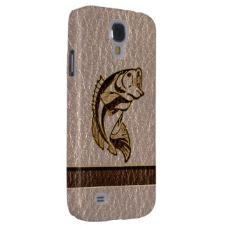 Leather-Look Fish Soft Galaxy S4 Cover