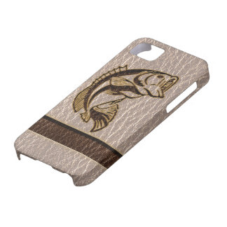 Leather-Look Fish Soft iPhone SE/5/5s Case