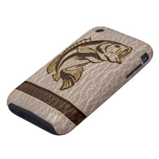 Leather-Look Fish Soft Tough iPhone 3 Cover