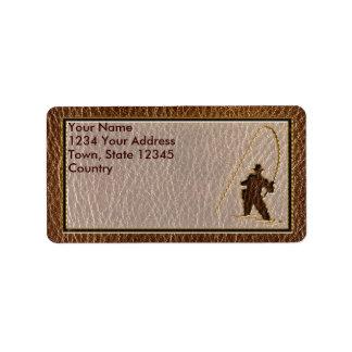 Leather-Look Fisherman Address Label