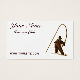 Leather-Look Fisherman customized Business Card