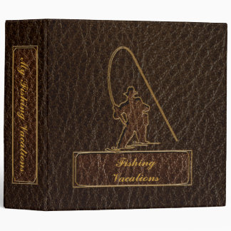 Leather-Look Fisherman Dark Binder