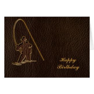 Leather-Look Fisherman Dark Card
