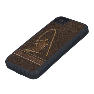 Leather-Look Fisherman Dark Case For iPhone SE/5/5s