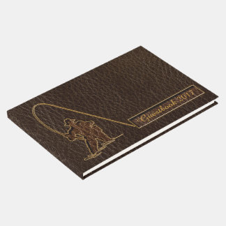 Leather-Look Fisherman Dark Guest Book