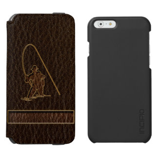 Leather-Look Fisherman Dark iPhone 6/6s Wallet Case