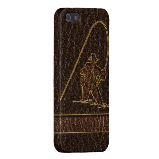 Leather-Look Fisherman Dark iPhone SE/5/5s Case