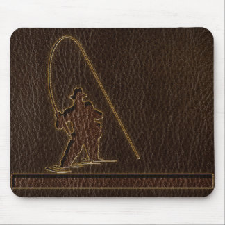 Leather-Look Fisherman Dark Mouse Pad