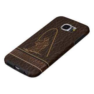 Leather-Look Fisherman Dark Samsung Galaxy S6 Case