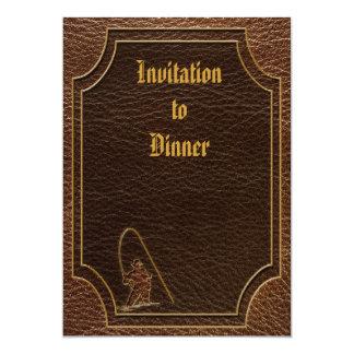 "Leather-Look Fisherman 5"" X 7"" Invitation Card"