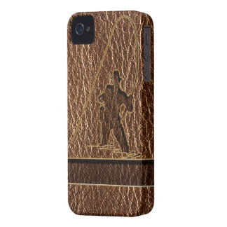 Leather-Look Fisherman iPhone 4 Case