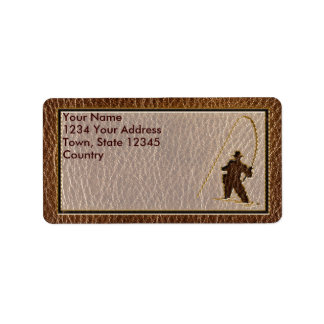 Leather-Look Fisherman Address Label