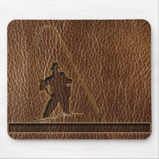 Leather-Look Fisherman Mouse Pad