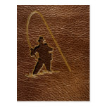 Leather-Look Fisherman Postcards