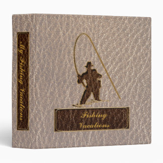 Leather-Look Fisherman Soft 3 Ring Binder
