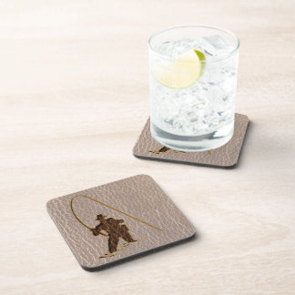 Leather-Look Fisherman Soft Coaster