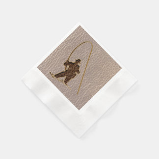 Leather-Look Fisherman Soft Coined Cocktail Napkin