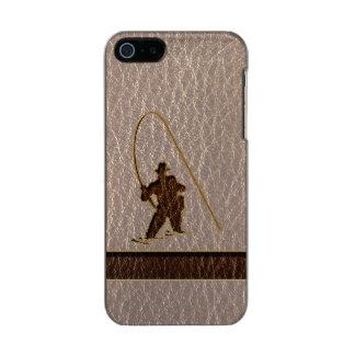 Leather-Look Fisherman Soft Metallic iPhone SE/5/5s Case