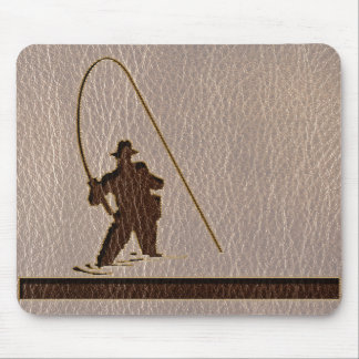 Leather-Look Fisherman Soft Mouse Pad
