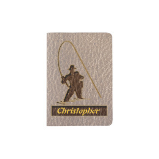 Leather-Look Fisherman Soft Passport Holder