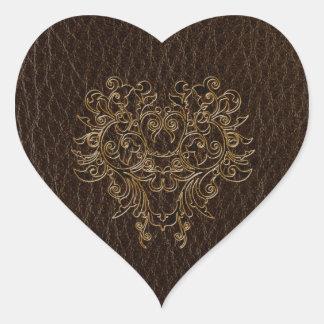 Leather-Look Flower 2 Dark Heart Sticker