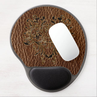 Leather-Look Flower 2 Gel Mouse Pad