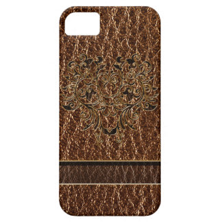 Leather-Look Flower 2 iPhone SE/5/5s Case