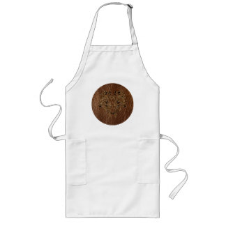 Leather-Look Flower 2 Long Apron